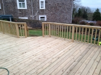 Decking, steps and balustrade fencing (new type smooth boards)