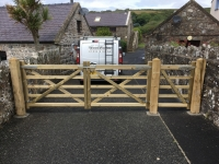 Pair of Field Gates with extra pedestrian gate in Broadhaven