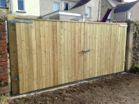 Pair of Solid Tongue and Groove Driveway Gates in Haverfordwest