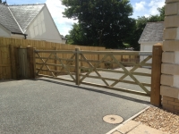 Pair of 5 bar gates in Llandewy Velfrey