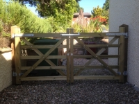 Pair of 5 bar gates (field gates) in Cosheston