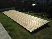 Decking on tiered garden in Kilgetty