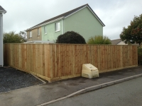 Feather edge fencing in Saundersfoot