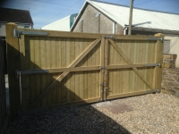 Very wide solid Gates in Whitland