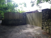 Feather edge fencing Double Solid Gates from Tongue and Groove and