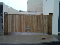 double driveway gates made from shiplap