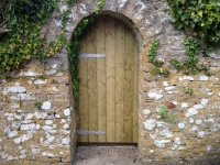 Tongue and Groove gate with curved top