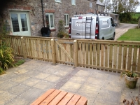 picket fencing and gate