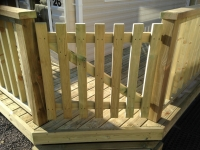 Picket Gate on a decking