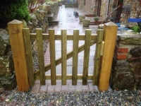 Picket Gate on 5inch Posts in Jeffreyston