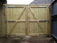 Tall Solid gates with header bar