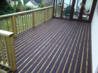 Anti Slip Rubber Decking in Hundleton