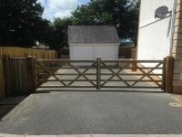 Pair of 5 bar gates in Llandewy Velfrey