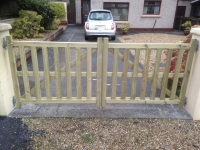 Pair of bespoke gates in Begelly