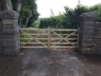 Pair of 5 bar gates in Laugharne