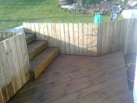 steps made from decking with fascia on the fronts