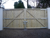 Large Double gates made from Shiplap
