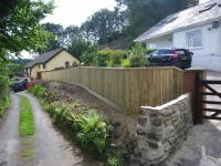 4ft feather edge fencing with a turn