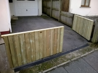 4 foot high double gates made from shiplap