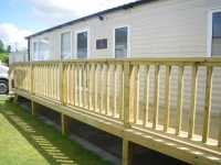 Narrow Caravan Decking with Smooth boards