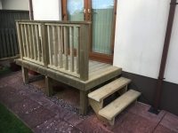 Deck access steps in St Florence
