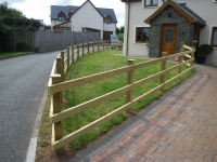 Post and Rail fencing with planed timber