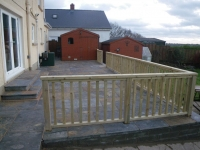 Balustrade on Patio - patio built by Carew Patios.
