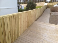 Double sided Premium Picket fence in Tenby - very expensive