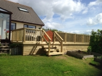 Large decking in Pentlepoir