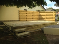 Decking with cladding underneath in Pembroke Dock