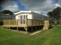 Caravan Decking Near Tenby