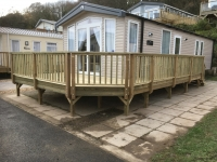 Caravan Decking in Lydstep ( NOT our usual design - they insisted in a particular design)