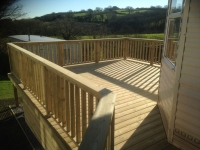 Caravan Decking at Rowston, New Hedges