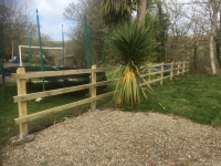 Post and Rail fencing in Penally