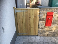 Tongue and groove gate in Saundersfoot