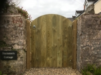 Tongue and Groove Gate with curved top in Saundersfoot