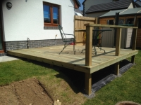 Decking and simple hand rail in Kilgetty