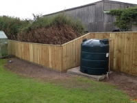 Feather edge fence in Hundleton