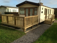 Caravan Decking in Amroth Castle