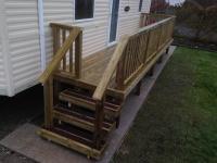 Caravan Decking with Grip board steps in Amroth Bay Holidays