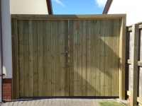 Pair of solid gates in Pembroke