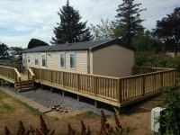 Decking at Windmills Caravan Site, New Hedges Tenby