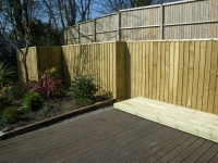 Feather Edge fencing & Storage Area & Decking extension