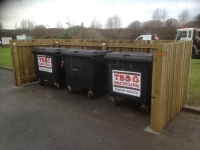 Wheelie Bin storage Solutions at The London Road Mall, Pembroke Dock