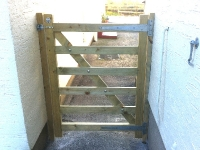 Garden gate hand made by Woodworks field style gate
