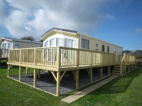 Caravan Decking with Steps and Balustrade