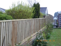 feather edge fence (with different heights)
