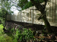 4 x 1 plank fence (staggered top)